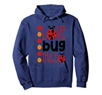 Love Bug Tribe Red Lady Bug Girls Squad Shirts Hoodie Navy