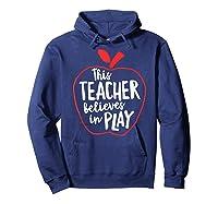 This Tea Believes In Play Tea Shirt With Apple T-shirt Hoodie Navy