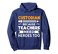 School Custodian Funny T-shirt Hoodie Navy