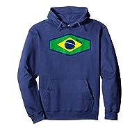 Superhero 2018 Fan Soccer Brazil T-shirt Hoodie Navy