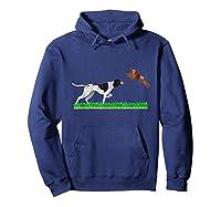 Bird Hunting English Pointer Dog Graphic Gift For Hunter Shirts Hoodie Navy