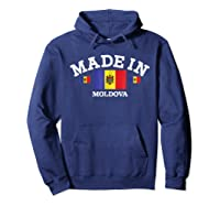 Made In Moldova Flag Shirts Hoodie Navy