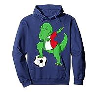 Dabbing Soccer T-rex Mexico Shirt - Mexican Football Hoodie Navy