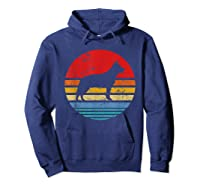 Cattle Dog Retro Sunset Distressed Mom Dad Dog Lover Gift Shirts Hoodie Navy