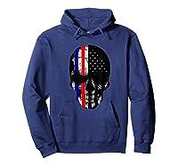 Patriot Skull Usa Flag Halloween Hunter Us Skeleton Head T-shirt Hoodie Navy