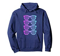 Pink Blue Blended Shades Summer Novelty Shirts Hoodie Navy