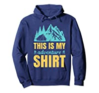 Hiking Outdoor Lover Mountains Hiker Shirts Hoodie Navy