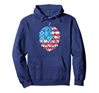 Retro Hops Lover Vintage Usa American Flag Beer Graphic Shirts Hoodie Navy
