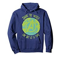 Earth Day Saving The World One Day At A Time Shirts Hoodie Navy