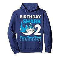 Birthday Shark 2017 2 Years Old Gift For Boy Girl Shirts Hoodie Navy
