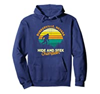 Retro Bunkerville, Nevada Big Foot Souvenir Shirts Hoodie Navy