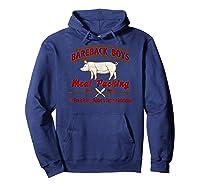 Bareback Meat Packing Est. 1969 Gay Humor Kink T Shirt Hoodie Navy