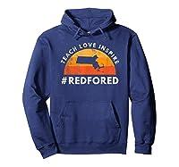 Teach Love Inspire Red For Ed Massachusetts Tea Shirts Hoodie Navy