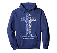 Stomach Cancer Awareness - I Can Do All Things T-shirt Hoodie Navy
