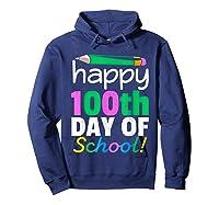 100th Day Of School Grade Tea Shirts Hoodie Navy