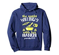 Funny Baking She Works Willingly With Her Hands T-shirt T-shirt Hoodie Navy