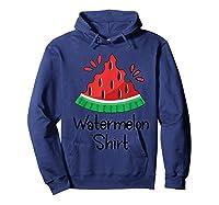 Watermelon Shirt - Cute Fun Of Summer Watermelon T-shirt Hoodie Navy