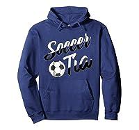 Soccer Tia Soccer Aunt Hispanic Spanish Gift T-shirt Hoodie Navy