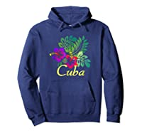 Cuba Beach Tropical Travel Surf Gift Shirts Hoodie Navy