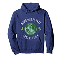 Climate Change Warming Raise Awareness Planet Shirts Hoodie Navy
