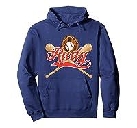 Baseball Player Rudy Birthday Boy T-shirt \\\'s Name Hoodie Navy