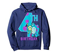 Pixar Monsters Inc Mike Sully Happy 4th Birthday Shirts Hoodie Navy