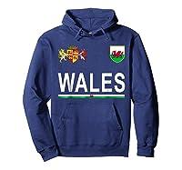 Wales Cheer 2017 Football Welsh Shirts Hoodie Navy