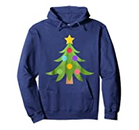 Christmas Tree Emoji Shirts Hoodie Navy