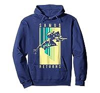 Nintendo Metroid Samus Returns Spotlight Graphic T-shirt Hoodie Navy