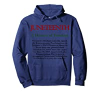 Junenth A History Of Freedom Shirts Hoodie Navy