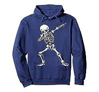 Dabbing Skeleton Halloween Costume Gift T-shirt Hoodie Navy