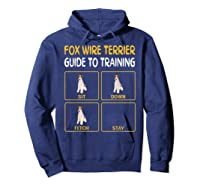 Wire Fox Terrier Guide To Training Dog Obedience T-shirt Hoodie Navy