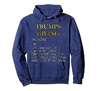 Trumpsgiving Definition Funny Thanksgiving Shirts Hoodie Navy