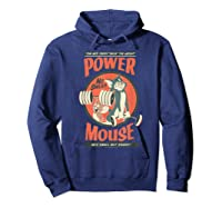 Tom And Jerry Power Mouse T-shirt Hoodie Navy