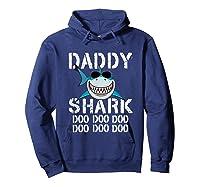 Daddy Shark Doo Doo Family Matching Shirts Hoodie Navy