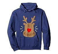Rudolph Christmas T Reindeer Xmas I Love Rudolph Shirts Hoodie Navy