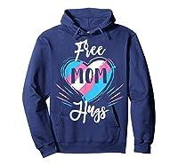 Free Mom Hugs For Transgender Pride Lgbt T-shirt Hoodie Navy