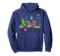 Love New York City Ny Tourist Souvenir Gift Shirts Hoodie Navy