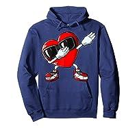 Dabbing Heart Valentines Day Love Dab Dance Gifts T-shirt Hoodie Navy