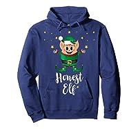 Honest Elf Xmas Elves Matching Family Group Christmas T-shirt Hoodie Navy
