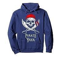 Pirate Yaya Skull And Crossbones Flag T-shirt Hoodie Navy