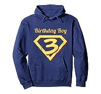 3rd Birthday Boy Gift Super Hero T-shirt Hoodie Navy