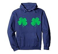 Shamrock Boobs Irish Boobies St Patricks Day Shirts Hoodie Navy