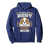 World\\\'s Best Cavalier King Charles Spaniel Mom Dog Owner T-shirt Hoodie Navy