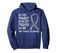 In This Family Nobody Fights Alone Rare Disease T-shirt Hoodie Navy