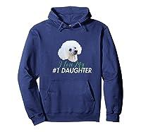 Love My #1 Daughter Shirts Hoodie Navy