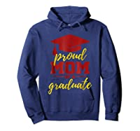 Proud Mom Of A Graduate, Maroon And Gold Shirts Hoodie Navy