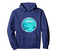Heal The Ocean Premium T-shirt Hoodie Navy
