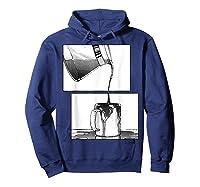 Manga Coffee Break Shirts Hoodie Navy