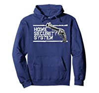 Home Security System Revolver Pistol Pun Premium T-shirt Hoodie Navy